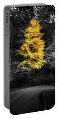 Lone Yellow Tree In The Curve Portable Battery Charger