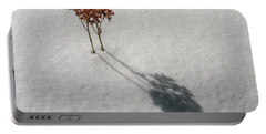 Long Shadow Of Winter Portable Battery Charger