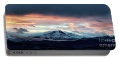 Longs Peak At Sunset Portable Battery Charger