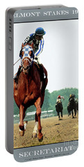 Looking Back, 1 1/2 Mile Belmont Stakes Secretariat 06/09/73 Time 2 24 - Painting Portable Battery Charger