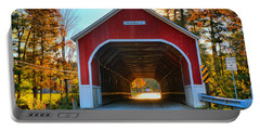 Looking Into The Cresson Covered Bridge Portable Battery Charger