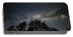Looking Up At The Milky Way Portable Battery Charger