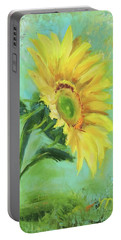 Loose Sunflower Portable Battery Charger