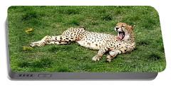 Lounging Cheetah Portable Battery Charger