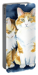 Love Me Meow Cat Painting Portable Battery Charger