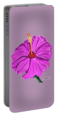 Lovely Pink Hibiscus Portable Battery Charger
