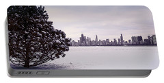 Portable Battery Charger featuring the photograph Lovely Winter Chicago by Milena Ilieva