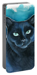 Lucy Black Cat Painting Portable Battery Charger