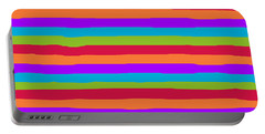 lumpy or bumpy lines abstract and summer colorful - QAB273 Portable Battery Charger