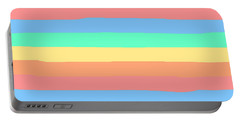 lumpy or bumpy lines abstract and summer colorful - QAB275 Portable Battery Charger