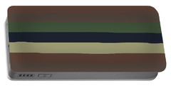 Army Color Style Lumpy Or Bumpy Lines - Qab279 Portable Battery Charger