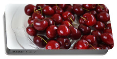 Lush Red Summer Cherries Portable Battery Charger