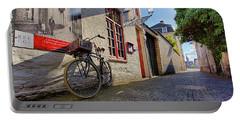Lux Cobblestone Road Brugge Belgium Portable Battery Charger