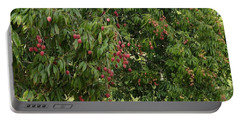 Lychee Tree With Fruit Portable Battery Charger