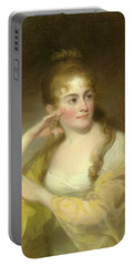 Portrait Of Lydia Leaming, 1806 Portable Battery Charger