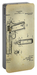 M1911 Browning Pistol Patent Portable Battery Charger