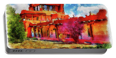 Mabel's Courtyard In Aquarelle Portable Battery Charger