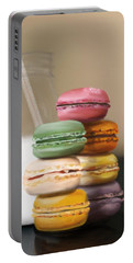 Portable Battery Charger featuring the pastel Macaroons  by Fe Jones