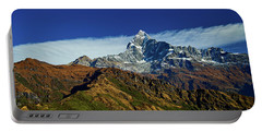 Machapuchare Mountain Fishtail In Himalayas Range Nepal Portable Battery Charger