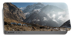 Machhapuchhare Base Camp In Nepal Portable Battery Charger