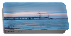 Mackinac Bridge In Ice 2161803 Portable Battery Charger