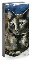 Madison Tortoiseshell Cat Painting Portable Battery Charger