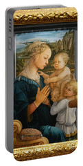 Madonna And Child Lippi The Uffizi Gallery Florence Italy Portable Battery Charger