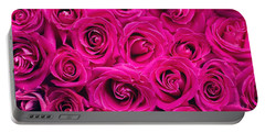 Magenta Roses Portable Battery Charger
