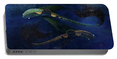 Portable Battery Charger featuring the painting Magic Fish by James Lanigan Thompson MFA