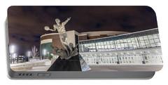 Magic Johnson Statue At Michigan State University  Portable Battery Charger
