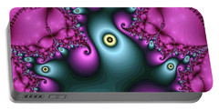 Magical Abstract Pink Art Print Portable Battery Charger