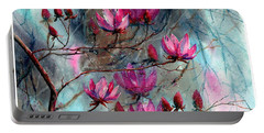Magnolia At Midnight Portable Battery Charger