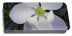 Portable Battery Charger featuring the painting Magnolia Flower Photo F9718 by Mas Art Studio