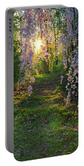 Magnolia Tree Sunset Portable Battery Charger