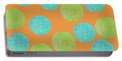 Malaysian Batik Polka Dot Print Portable Battery Charger