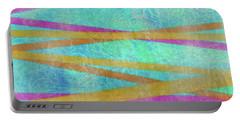 Malaysian Tropical Batik Strip Print Portable Battery Charger