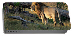 Male Lion In Botswana Portable Battery Charger