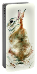 Portable Battery Charger featuring the painting Male Rabbit by Philip and Karen Rispin