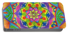 Portable Battery Charger featuring the drawing Mandala 2 by Dobrotsvet Art