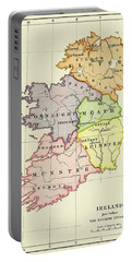 Map Of Ireland Just Before English Invasion In 1588 Portable Battery Charger