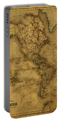 Map Of North America 1843 Portable Battery Charger