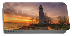 Marblehead Lighthouse Sunrise  Portable Battery Charger