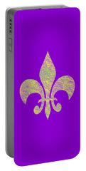 Mardi Gras Party Fleur De Lis Portable Battery Charger