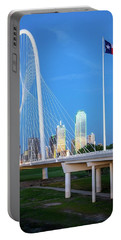 Margaret Hunt Hill Bridge In Dallas  Portable Battery Charger