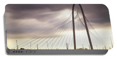 Margaret Hunt Hill Bridge - Large Marge - Dallas, Texas Portable Battery Charger