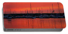 Marina Sunset In Summer Portable Battery Charger