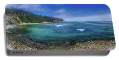 Marine Layer Over Bluff Cove Panorama Portable Battery Charger