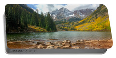 Portable Battery Charger featuring the photograph Maroon Bells by Jacqueline Faust