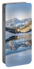 Maroon Bells Reflection Winter Portable Battery Charger