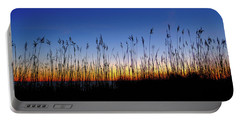Marsh Grass Silhouette  Portable Battery Charger
